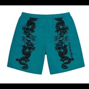 New Supreme Dragon Water Short in Teal Size Small